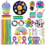 Le Plus récent Pop Fidget Pack Toy Sensory Fidget Toy Sets Push Bubble Toy Kits Meilleur Cadeau de Jouet pour Les Enfants (14, Coloré)