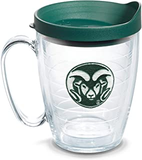 Tervis 1084927 Colorado State Rams Logo Tumbler with Emblem and Hunter Green Lid 16oz Mug, Clear