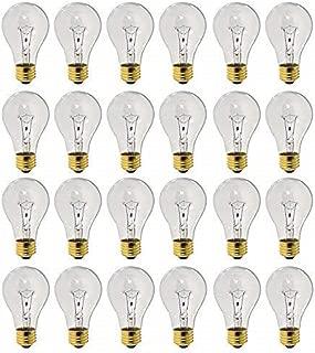 75 Watt A19 Rough Service Heavy Duty Medium Base 130 Volt Rough Service 20000 Hour Incandescent - Standard Household E26 Bulb (Clear, 24 Pack)