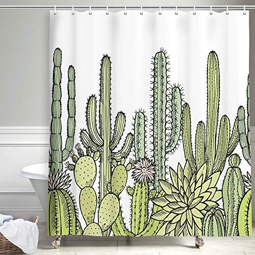 Cactus Flowers Shower Curtains