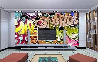 3D Wallpaper Modern Graffiti Letter Trend Wall Mural Wallpaper Home Decor Wallpaper for Home Living Room Bedroom Indoor and TV Background 400cmX280cm