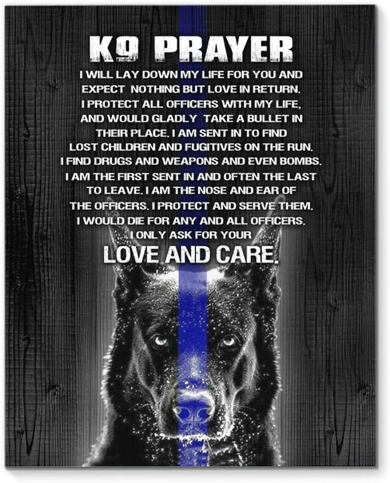 Translated K9 Prayer Love And Care Poster No 0.75 Canvas SALENEW very popular Framed In Or Frame