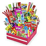 Sweet Choice Bite Sized Candy Care Package - (50 count) A Sampler of Skittles, Sour Patch Kids,...