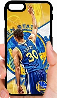Curry Holding Up 3 Warriors Logo Yellow Background Basketball Phone Case Cover - Select Model