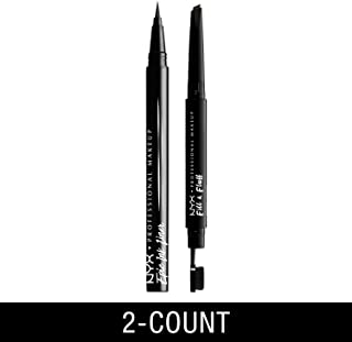 NYX PROFESSIONAL MAKEUP Epic Ink Liner Waterproof Liquid Eyeliner, Black + Fill & Fluff Eyebrow Pomade Pencil, Espresso, 2 Count