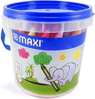 Maxi Jumbo Wax Crayons 48 Color Round 90Mm In A Tub