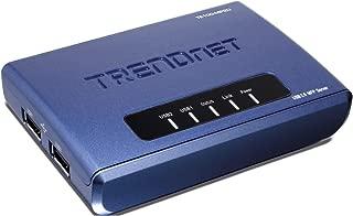 TRENDnet 2-Port Multi-Function Print Server TE100-MP2U (Blue)