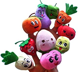 iUnisy Fruits and Vegetables Soft Finger Puppets Set for Children Early Development