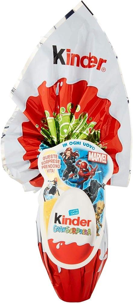 Kinder gran sorpresa spiderman, uovo di pasqua al latte da 150g