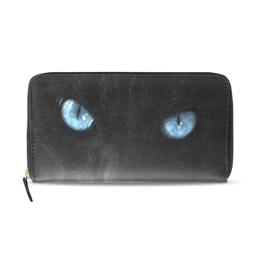 フィドル泳ぐ責めるAOMOKI 財布 長財布 レディース レザー 革財布 カード たくさん入る 収納 大容量 多機能 プレゼント 可愛い黒猫