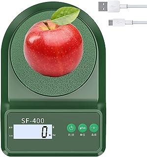 ميزان مطبخ رقمي بحجم 10 كجم قابل لإعادة الشحن، 1 جم / 0.1 أوقية دقة التخرج ، 5 وحدات، وظيفة Tare ، إضاءة خلفية باللمس LCD...