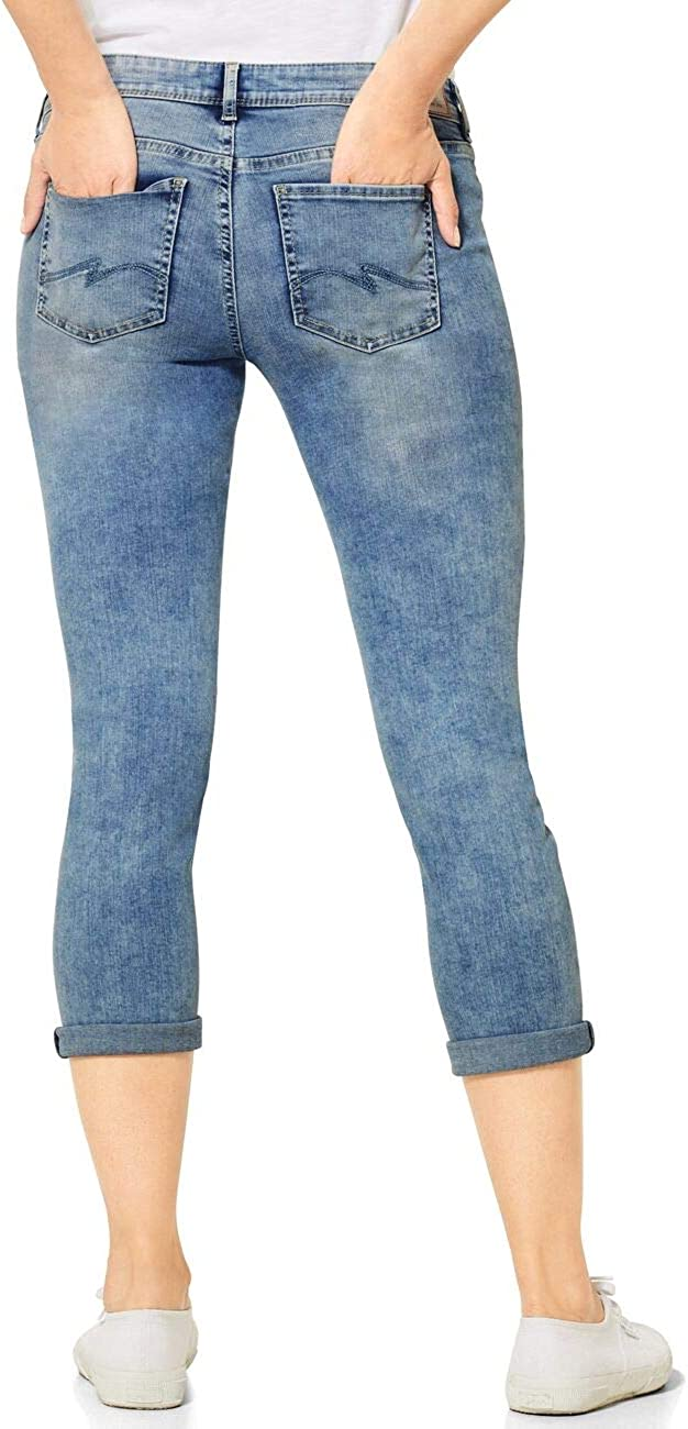 Street One Crissi Jeans Femme Light Blue Random Bleached