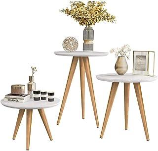 Mesa de Centro, Apoio e Lateral - Kit Triplo Classic - Branco - Mania de Móveis