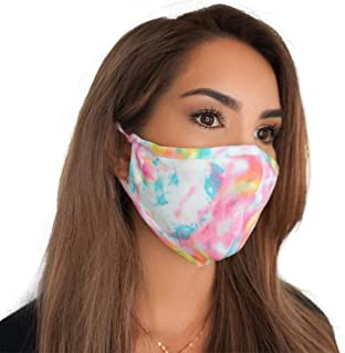 MASKIE Cotton Premium Quality Washable Face Mask 'Plus' Reusable Breathable Cloth Face Covering with Adjustable Ear Loops ...