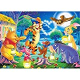 5D DIY Diamond Painting by Number Kit for Adults and Kids,Winnie The Pooh Round Dril Beads Crystal Rhinestone Cross Stitch Picture Supplies Arts Craft Wall Sticker Dcor,16'X12' (Pattern 3, 16'X12')