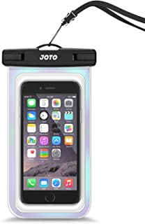"JOTO Universal Waterproof Pouch Cellphone Dry Bag Case for iPhone Xs Max XR XS X 8 7 6S Plus, Galaxy S10 S9/S9 +/S8/S8 +/Note 10+ 10 9 8, Pixel 4 XL Pixel 4 3 2 up to 6.8"" - Sparkle"