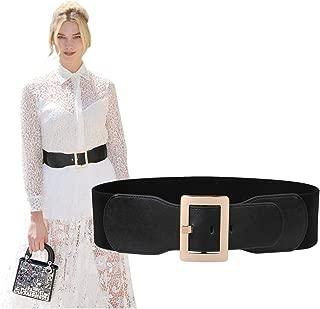 Women Wide Cinch Waist Belt Ladies Fashion Belt for Dresses with Metal Pin Buckle