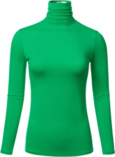 womens green turtleneck