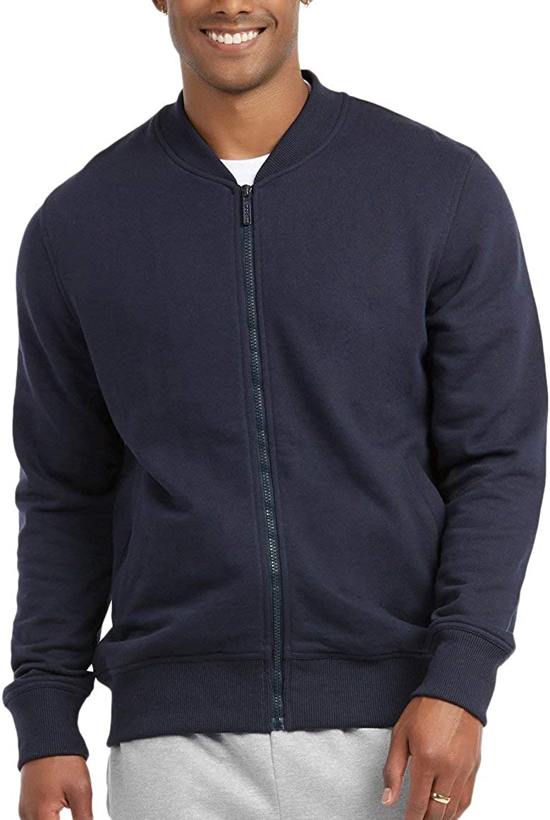 ToBeInStyle Men's Year Round Timelessly Classic Terry Bomber Jacket at  Men's Clothing store