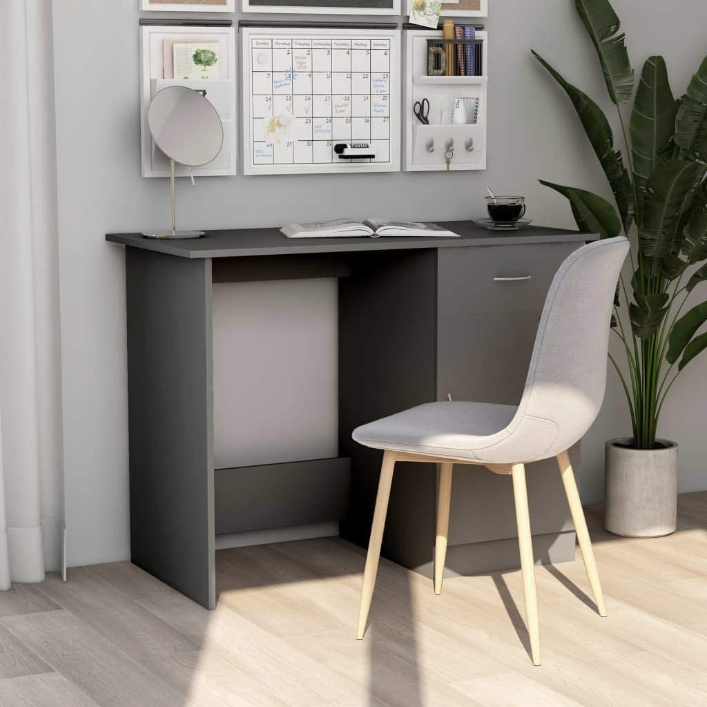 vidaXL 日時指定 Desk Storage 贈答品 Shelves Spacious Wor Study Home Sleek Office