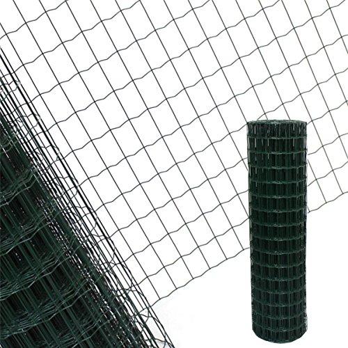 Estexo Gartenzaun 1,2x25 M Maschendraht Gitterzaun Maschung 7,5x5 cm Schweißgitter Zaun