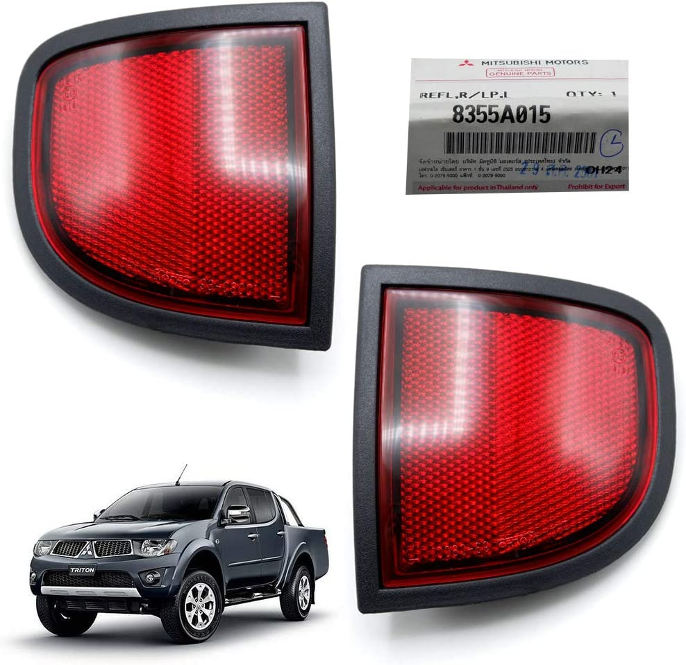 Nonstops Pair Ranking TOP16 Rear Under Special price for a limited time Tailgate Red Mit Reflector Genuine Fits