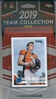 2019 Donruss Football Factory Sealed Denver Broncos Team Set of 11 Cards: Joe Flacco(#82 ), Phillip Lindsay(#83 ), Von Miller(#84 ), Bradley Chubb(#85 ), Courtland Sutton(#86 ), Emmanuel Sanders(#87 ), Justin Simmons(#88 ), John Elway(#89 ), Juwann Winfree(#297 ), Drew Lock(#303 ), Noah Fant(#320 )
