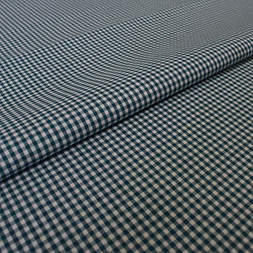 Hans-Textil-Shop stof per meter Vichy Karo 2x2 mm katoen - voor landhuis, decoratie, naaien of knutselen petrol