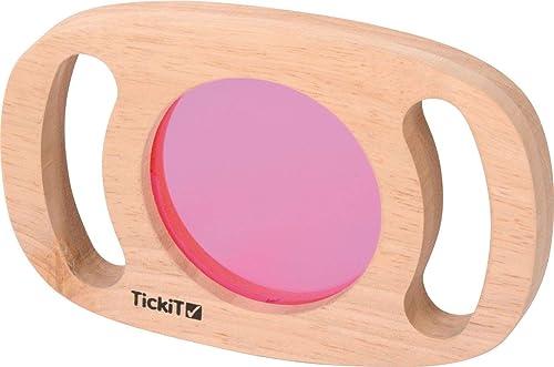 KL-Toys Entdecker Gl r 6-TLG.   Die Welt mit Anderen Augen sehen   Ma  18,5 x 12 x 2 cm   Acrylgl r in versch. Farben + zWeißitige Spiegel   Material  Acrylglas + Holz