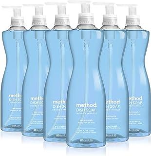 Method Sea Minerals Dish Soap, Pump Bottles, 18 Fl Oz, Pack of 6