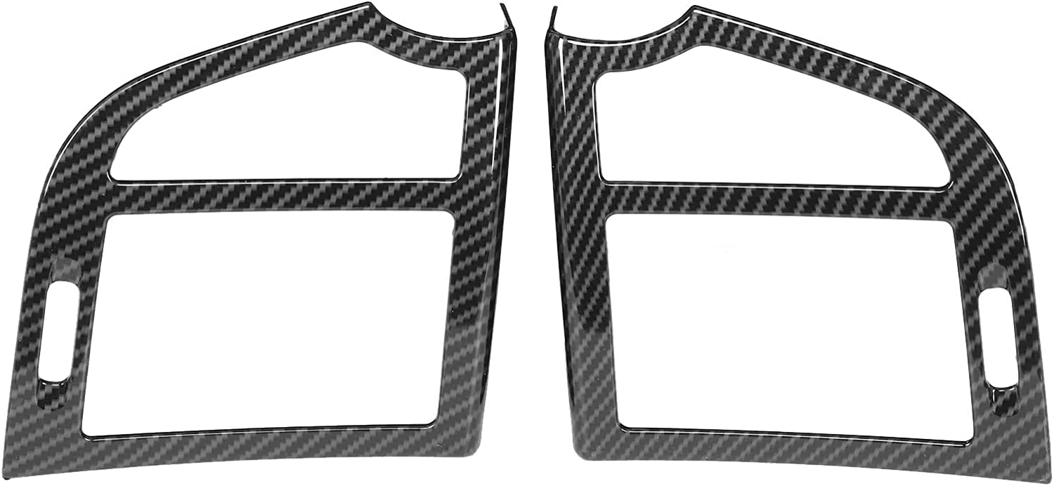 2Pcs Side Air Vent Outlet Cover Benz Style Carbon Max 89% OFF High material Fiber for Fit