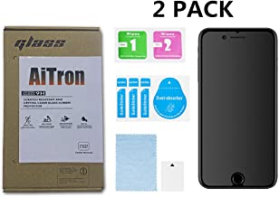 iPhone 6S Plus and iPhone 6 Plus Matte Tempered Glass Screen Protector, [2 Pack] AiTron Anti-Glare/Anti-Fingerprint Glass Screen Protector Compatible for Apple iPhone 6S/6 Plus 5.5""