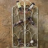 MKJYDM Iron Rack De Vino Retro Industrial Barra De Viento Decoración Creativo Vinoteca Vino Copa De Vino Boca Abajo Restaurante Pared Pared Colgando 37x95 Cm estantería de Vino