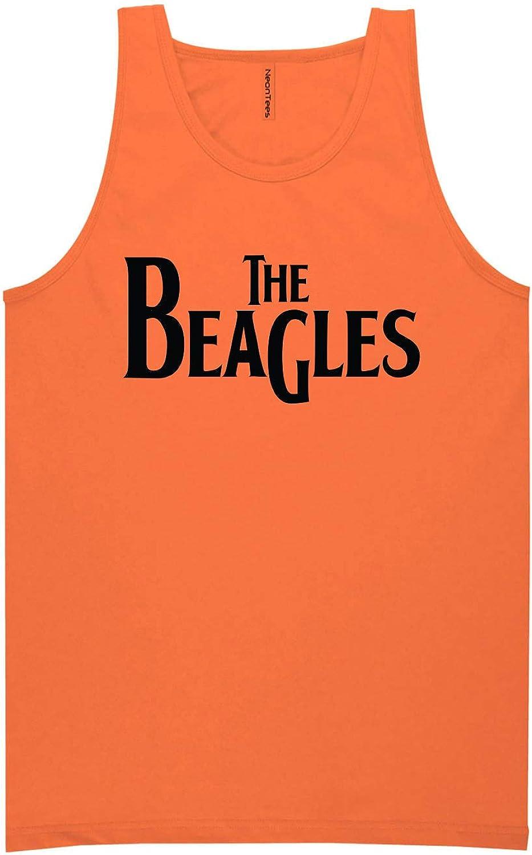 zerogravitee The Beagles Neon Orange Tank Top - XX-Large