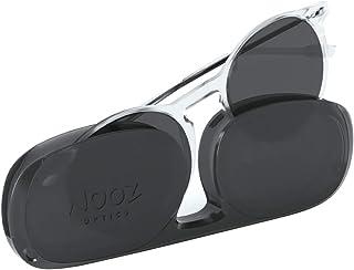 NOOZ Occhiali da Lettura Solare per Uomo e Donna Colore Crystal +3,00 con Custodia compatta - Protezione 100% UV categoria...