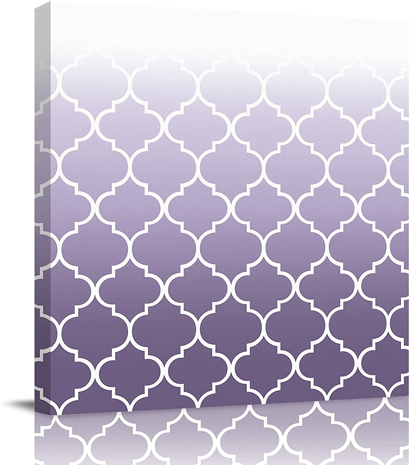 Canvas Wall Art Painting Decor Color Ombre Artwor Lavender Very Popularity popular White
