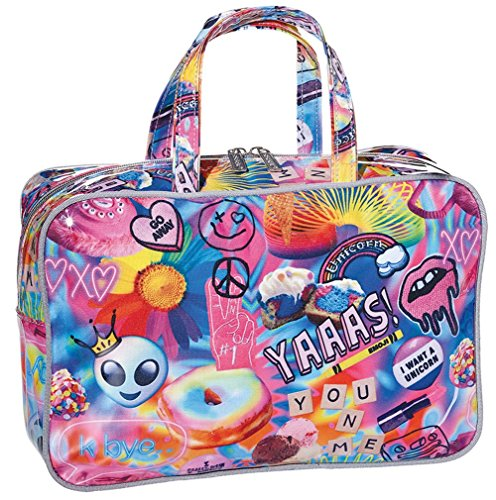 iscream 'Psychedelic Collage' Large Zippered Cosmetic Bag