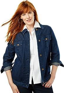 0facf018dbf Jessica London Women s Plus Size Classic Cotton Denim Jacket