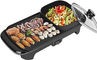 Raclette Le barbecue électrique et pot chaud facile à nettoyer la grande barbecue de la machine de pierre électrique cuill...