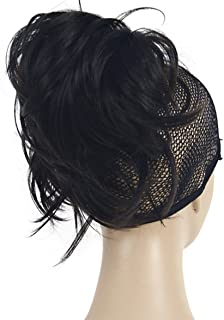 Lydell Adjustable Messy Style Ponytail Hair Extension Synthetic Hair-Piece with Jaw Claw (#4 Dark Brown)