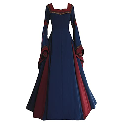 047f1eac533dd Boomtrader Womens Medieval Long Sleeved Trumpet Gothic Victorian Fancy  Party Dress