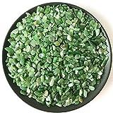 HOULAI 100 g de piedra mineral de jaspe verde natural para pecera y decoración de acuario