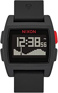 NIXON Base Tide A1104-100m Water Resistant Men's Digital Surf Watch (38 mm Watch Face 22 mm Pu/Rubber/Silicone Band)