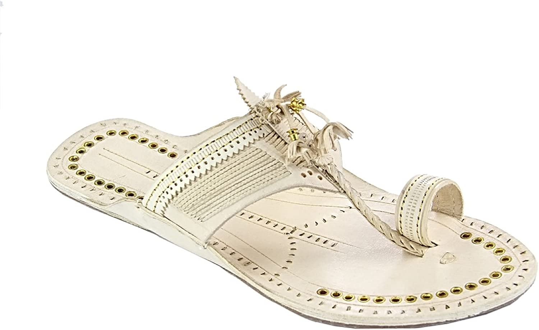 KOLHAPURI CHAPPAL Original Beautiful Designer's fine Braids pom-pom golden Rivets Ladies Slipper Sandal
