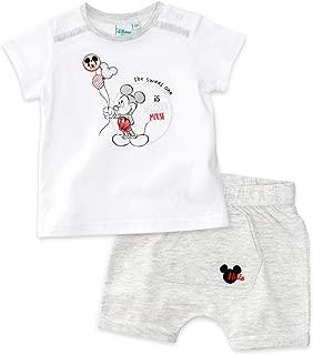 3 Teile 62-92 Gr Body Hose Mütze weiß-schwarz Disney Mickey Set