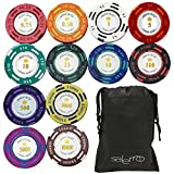 Salerno ゴルフ マーカー ポーカー チップマーカー ラウンド用品 グランドゴルフ 袋セット