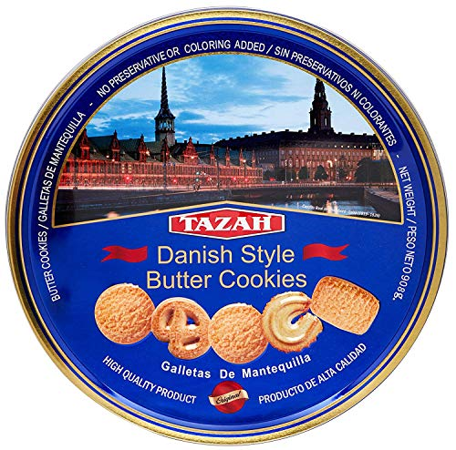 Tazah Danish Style Butter Cookies 32 Ounce Tin