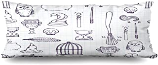 Mesllings Body Pillows Cover 20x54 Inches Candle Harry Different Witch Equipment Pattern Period Potter Wand Broom Witchcraft Besom Birdcage Decorative Cushion Case Home Decor Pillowcase