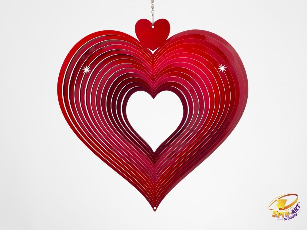Spin Art funda corazón viento Spinner: Amazon.es: Jardín