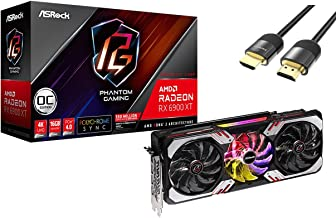 ASRock Radeon RX 6900 XT Phantom Gaming D OC Graphics Card 16GB GDDR6 PCIe 4.0 AMD RDNA2 Triple Fan Polychrome SYNC 3X Dis...